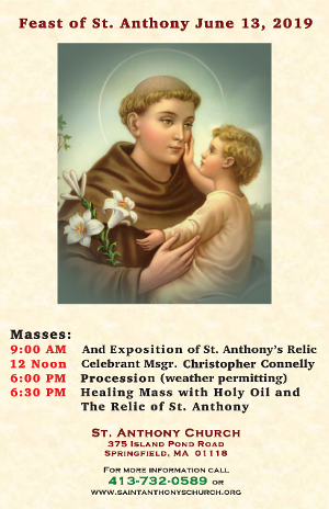 Feast of St. Anthony - June 13, 2019